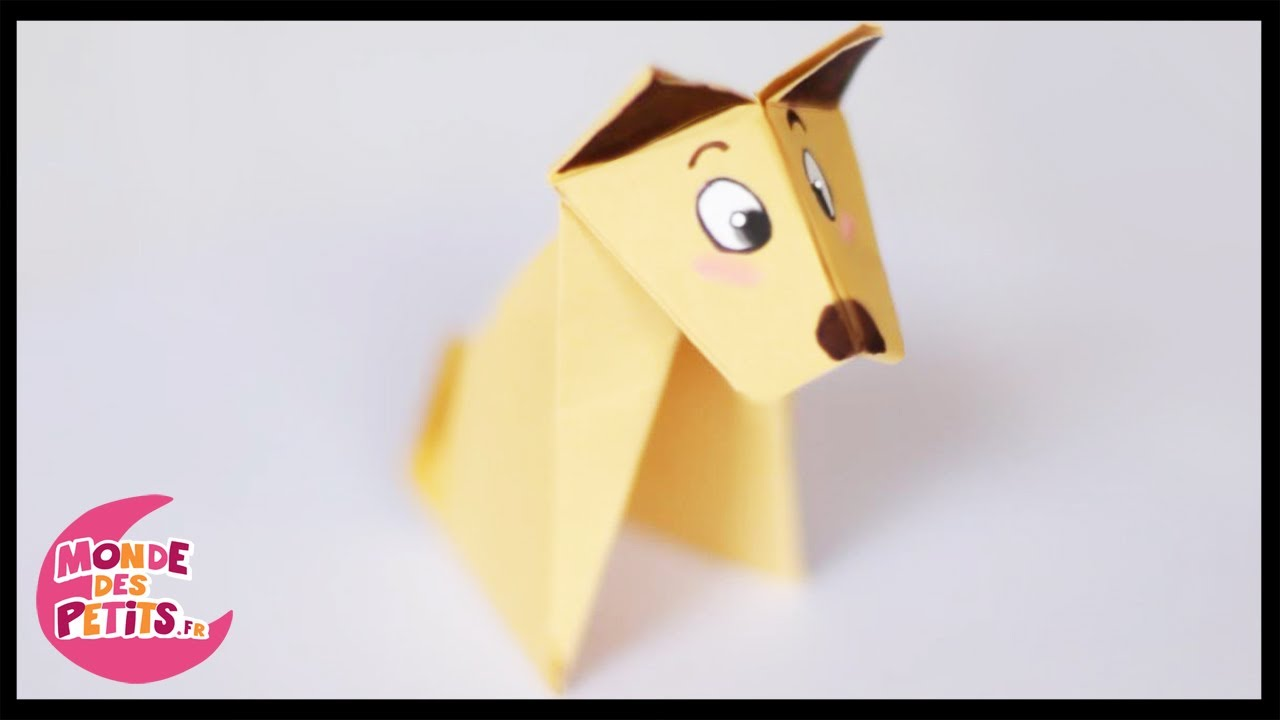 Origami Le Chien En Papier Pli Youtube