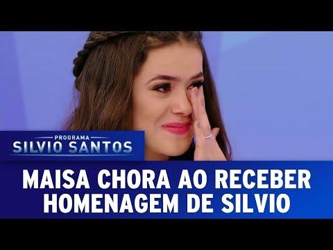 Maisa chora ao receber homenagem de Silvio Santos | Programa Silvio Santos (25/06/17)