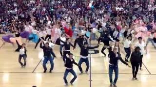 Homecoming Rally 10/7/16, Sequoia High School Advanced Dance, Grease