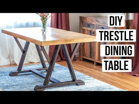 DIY trestle dining table - How to build - Anika's DIY Life