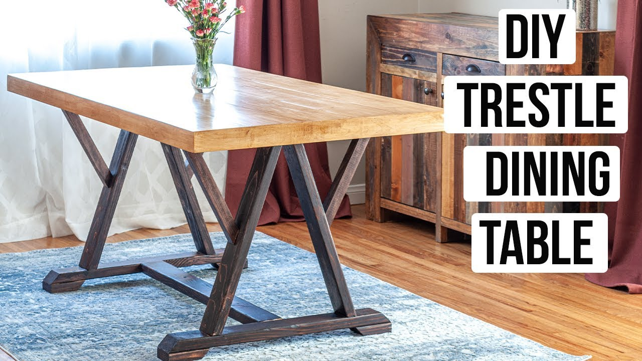Building A Trestle Table.Diy Trestle Dining Table How To Build Anika S Diy Life