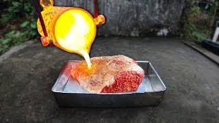 NTN - EXPERIMENT: Đổ Nhôm Nóng Chảy Nướng Thịt Bò (Using Melted Aluminum To Cook Beef)