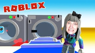 Roblox: WASH SALON END - Washing machine swallows people LAUNDROMAT OBBY Escape