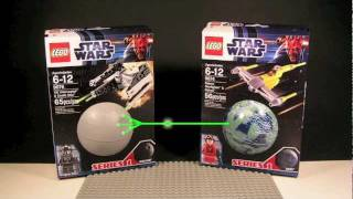 Lego Star Wars Mini Ship Minifigures and Planet Container Series 1 Tie Interceptor Death Star