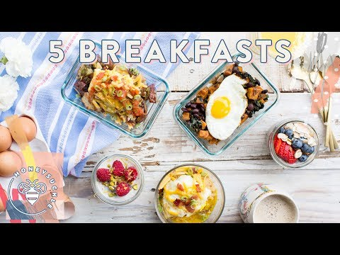 5 Make-Ahead Breakfast Bowls Mon-Fri 🍳 Honeysuckle #buzybeez