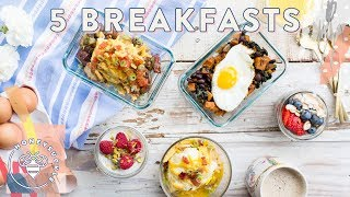 5 Make-Ahead Breakfast Bowls Mon-Fri  Honeysuckle #buzybeez