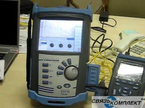 Оптический рефлектометр с возможностью установки измерителя мощности, источника оптического излучения и инфракрасного лазера.