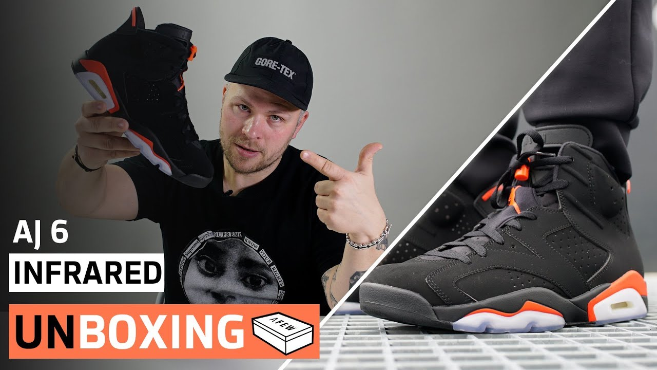d9150519119 Air Jordan 6 Infrared | Unboxing + On-Feet (Nike Logo an der Ferse ...