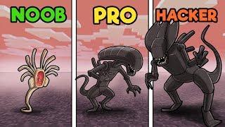Minecraft - ALIEN BASE DEFENSE! (NOOB vs PRO vs HACKER)