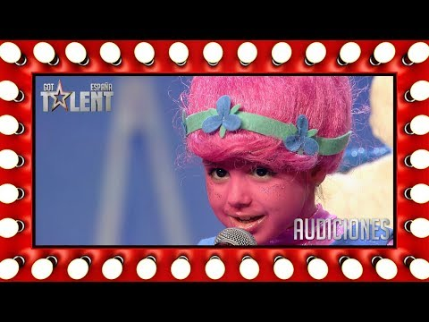This little 'troll' can't stop the feeling and just dance!   Auditions 2   Spain's Got Talent 2018