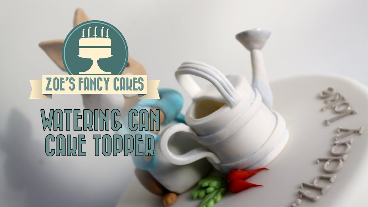 How to make a watering can cake topper using modeling ...