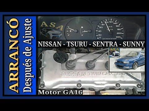 ARRANCO! Después de AJUSTE, REPARACIÓN DE MOTOR, Nissan Tsuru 3, Sentra B13, Sunny. MOTOR GA16