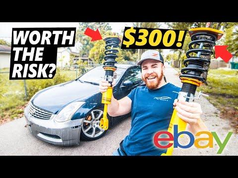 SLAMMING an Infiniti G35! $300 EBAY COILOVER INSTALL!!  *gone wrong*
