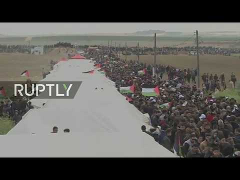 LIVE: Palestinians arrive for 'March of Return' in Gaza Strip
