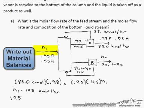 Distillation of a Two Component Mixture Part 1