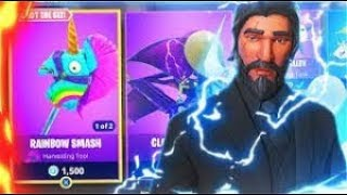 NEW SKINS ! (RAINBOW SMASH) Winning To Luck ( Fortnite Battle Royal Full Match)