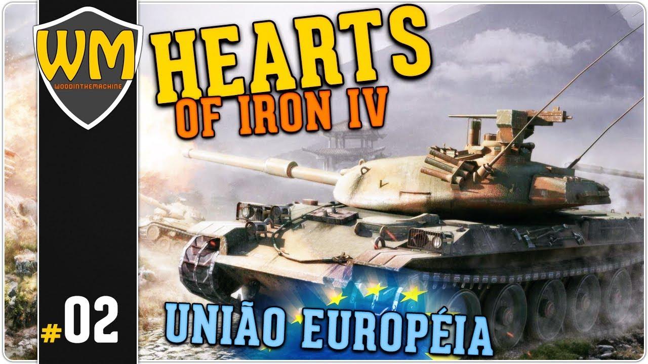 HOI4 Formando União Européia de Bélgica #02 - Manpower! - Gameplay PT BR