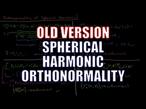 Quantum Chemistry 6.11 - Orthonormality of Spherical Harmonics (Old Version)