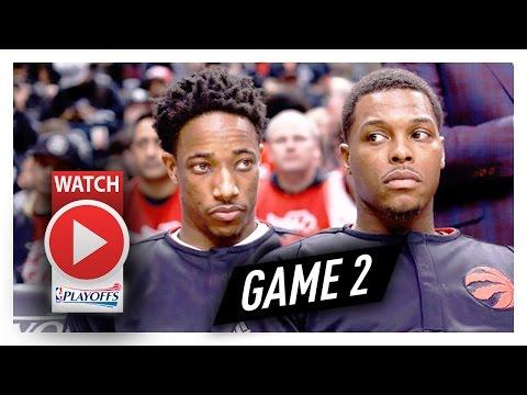 DeMar DeRozan & Kyle Lowry Full Game 2 Highlights vs Bucks 2017 Playoffs - 45 Pts, COLD!