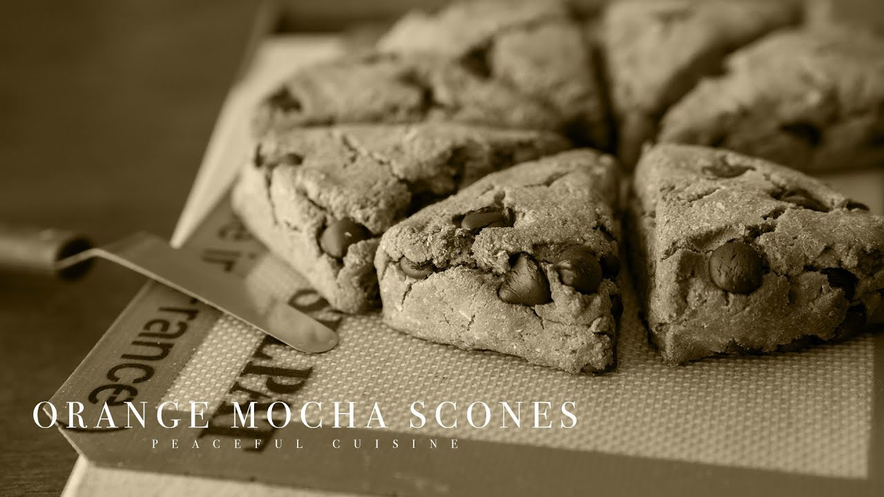[No music] How to make Orange Mocha Scones