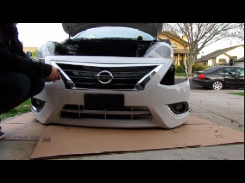 Nissan Versa Front Bumper Removal Install