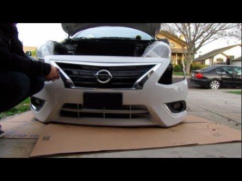 2015 Nissan Versa Front Bumper RemovalInstall  YouTube