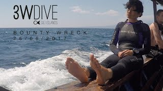 Diving Bounty wreck - Gili Air with 3WDive