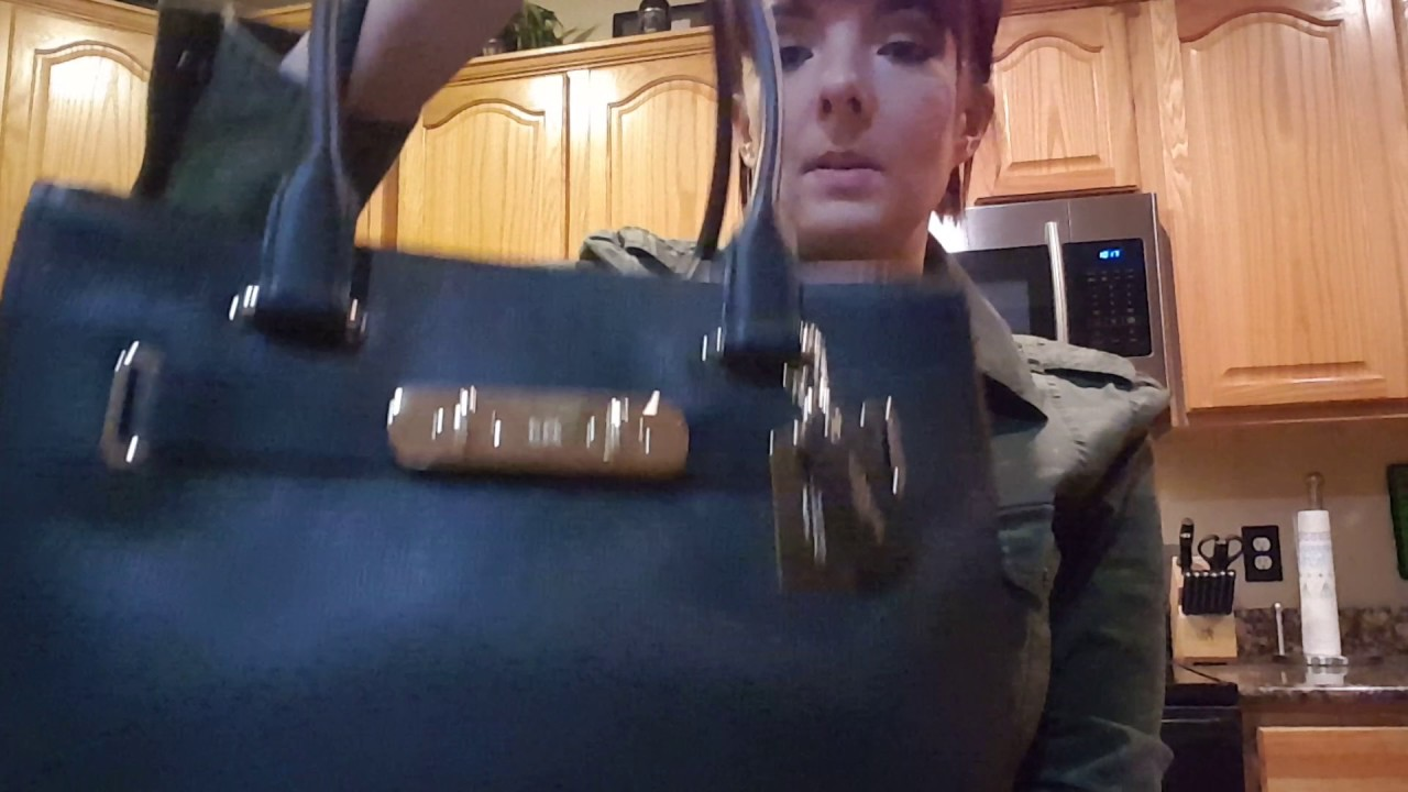 86de9b6197 REVIEW of COACH  36488 swagger carryall black leather turnlock shoulder bag  purse handbag