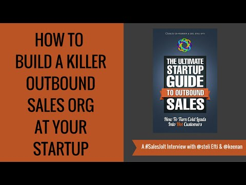The Ultimate #Startup Guide to #Outbound #Sales with Steli Efti Ep. 24