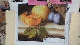 """Эстэ """"Персики и сливы"""" - продвижения и завершение картины."""