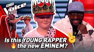 This 12-Year-Old wants to be the next RAP SUPERSTAR! ✌️🔥 | The Voice Kids