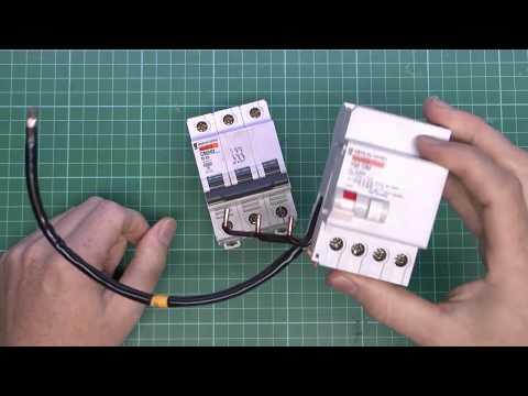 Merlin Gerin multi 9 3 Phase MCB and RCD Module Teardown