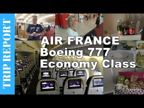 AIR FRANCE ECONOMY CLASS flight to Singapore - Boeing 777 Flight Review