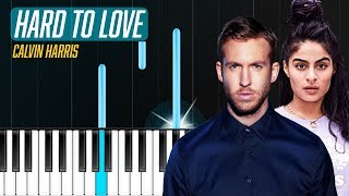 "Calvin Harris - ""Hard To Love"" ft Jessie Reyez Piano Tutorial - Chords - How To Play - Cover"