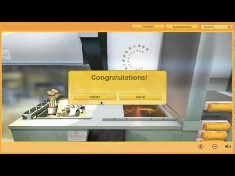 Fast Food 3D Training Simulation