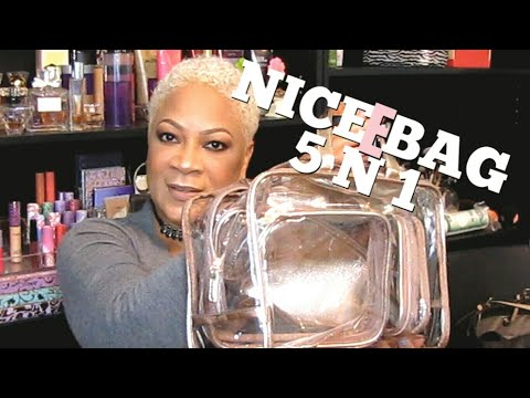PR UNBOXING:  NiceEbag 5 In 1 Cosmetic Bag & Case Portable Carry On Travel Toiletry Bag (Rose Gold)