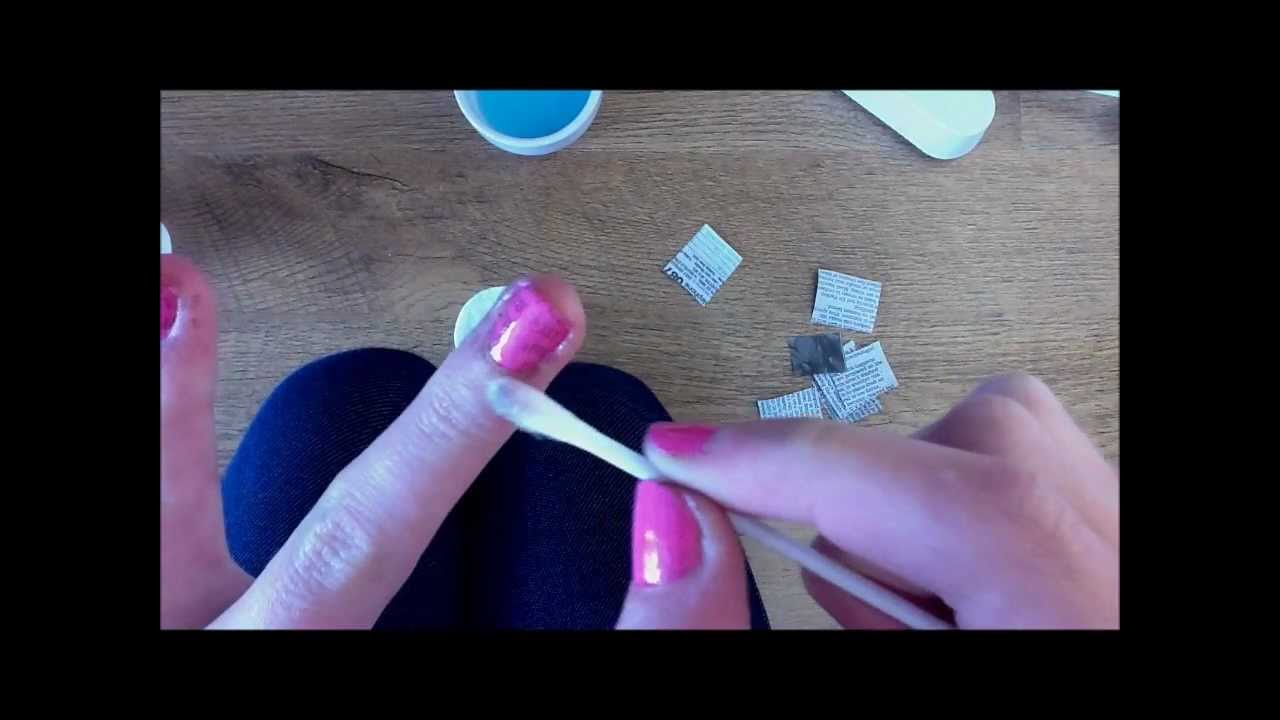 Newspaper Nails (with mouthwash NOT alcohol!) - YouTube