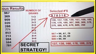 Secret Lottery Strategy to Filter all the Winning Numbers 100% Tested!