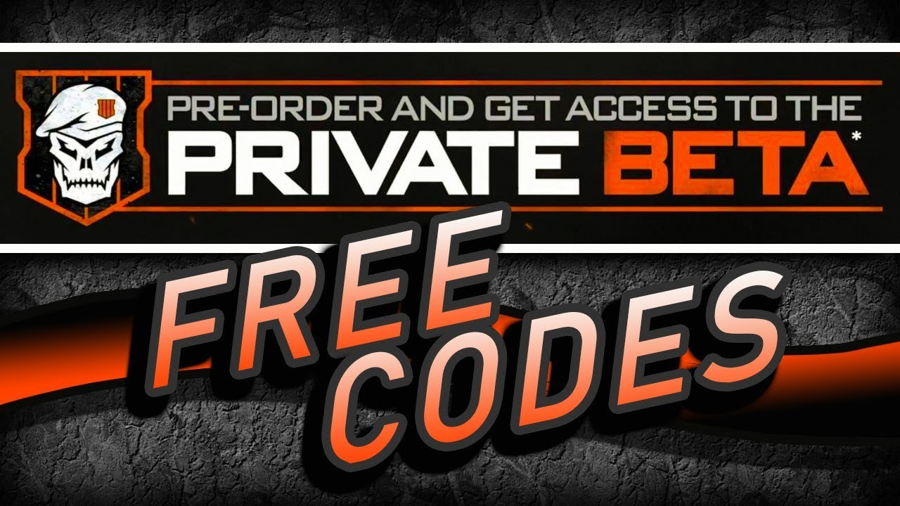 how to get free bo4 beta codes
