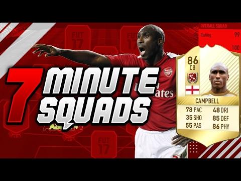 EPIC LEGEND SOL CAMPBELL 7 MINUTE SQUADS!! (FIFA 17)