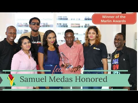 Winner of the Marlin Awards Samuel Medas Honoured