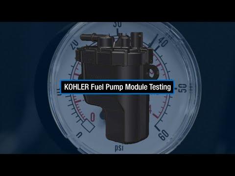 KOHLER Fuel Pump Module Testing: Test Fuel Pressure