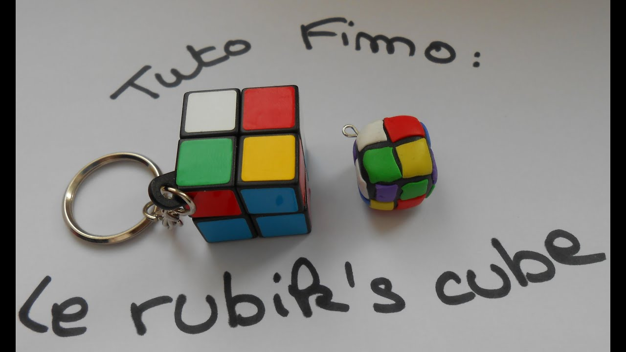 tuto fimo le rubik 39 s cube youtube. Black Bedroom Furniture Sets. Home Design Ideas