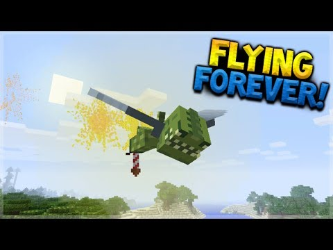HOW TO FLY FOREVER!! Minecraft Console Edition - Elytra Firework BOOSTERS! (Console Edition)