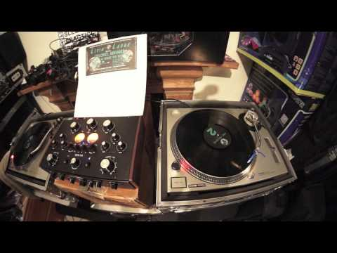 BEGINNER DJ LESSON ON CUTTING WITH VINYL ON THE SUPER STEREO DN 78 MIXER