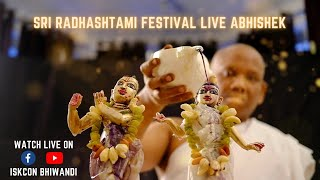 Sri Radhasthami Festival Live Abhishek