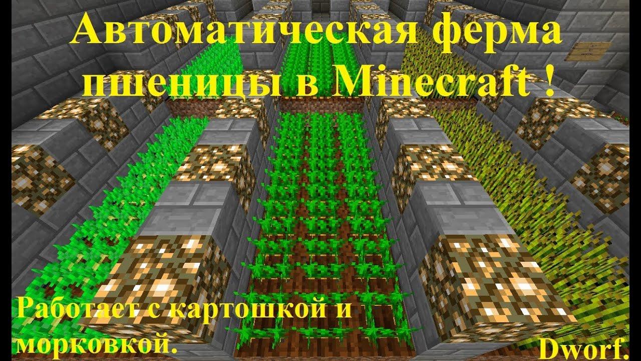 Как сделать автоматическую ферму пшеницы в minecraft
