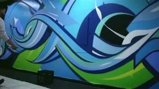 Franklin Park Mural Install