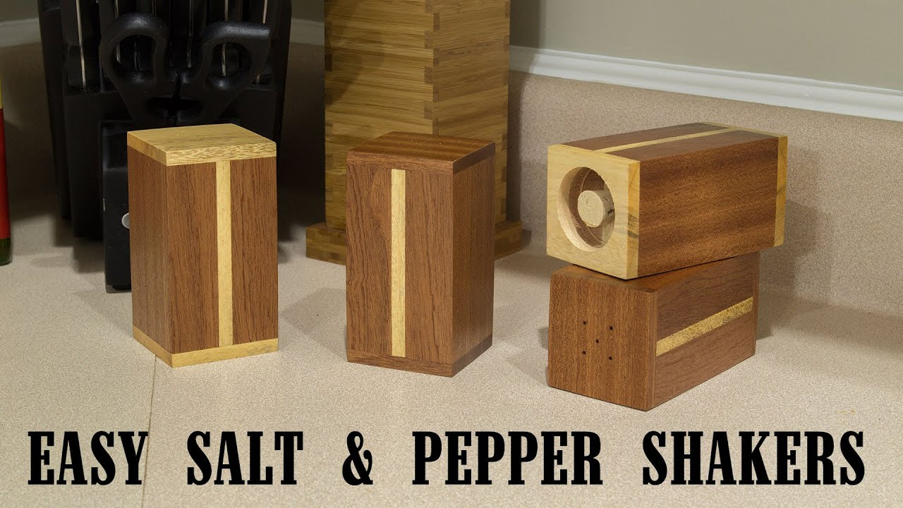 easy gift project salt and pepper shakers    youtube -
