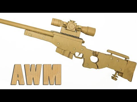 How To Make AWM Sniper in PUBG From Cardboard DIY By King OF Crafts